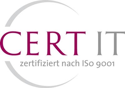 CERT IT Zertifiziert nach ISO 9001